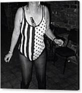 Sylver Short Halloween Tucson Arizona 1990 Black And White Canvas Print