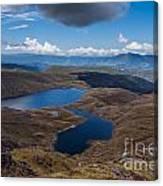 Sylvester Lakes In Kahurangi National Park Nz Canvas Print