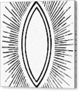 Symbol Vesica Piscis Canvas Print
