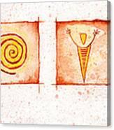 Symbols In Stone Canvas Print