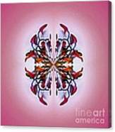 Symmetrical Orchid Art - Reds Canvas Print