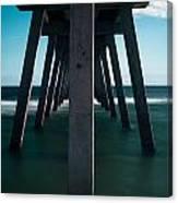 Symmetry Under The Pier  Canvas Print