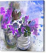 Symphony In Blue And Purple Canvas Print