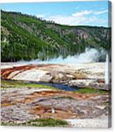 Synchronous Geyser Spray Canvas Print
