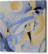 Syncopation In Blue Canvas Print