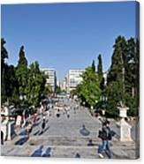 Syntagma Square In Athens Canvas Print