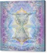 Synthecentered Doublestar Chalice In Blueaurayed Multivortexes On Tapestry Lg Canvas Print