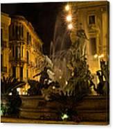 Syracuse - Diana Fountain  Canvas Print