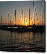 Syracuse Harbor Sunset Canvas Print