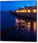Syracuse Sicily Blue Hour - Ortygia Evening Mood Canvas Print