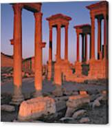 Syria, The Great Tetra Pylon At Palmyra Canvas Print