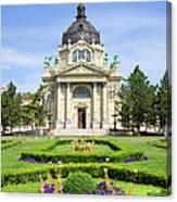 Szechenyi Baths In Budapest Canvas Print