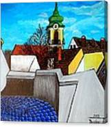 Szentendre - View From The Castlehill Canvas Print