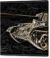 T-54 Soviet Tank Bk-bg Canvas Print
