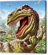 T-rex And Dinosaurs Canvas Print