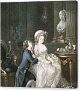 T.2342 Lamant Ecoute, 1775 Canvas Print