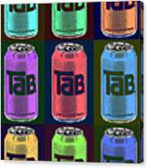 Tab Ode To Andy Warhol Black Canvas Print