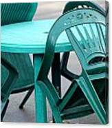 Table And Chairs. Canvas Print