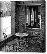 Table For Two Bw Canvas Print
