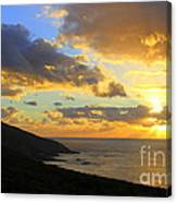 Table Mountain South Africa Sunset Canvas Print