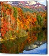 Table Rock Mirrored Canvas Print
