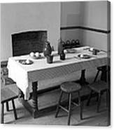 Colonial Table Canvas Print