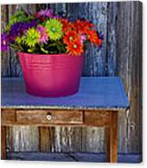 Table Top Flowers Canvas Print