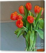Table Top Tulips Canvas Print