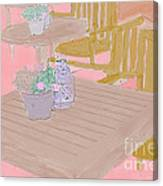 Tables And Chairs Canvas Print