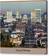 Tacoma City Of Destiny Canvas Print