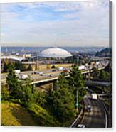 Tacoma Dome And Auto Museum Canvas Print