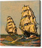 Taeping And Ariel, British Tea Clippers Canvas Print