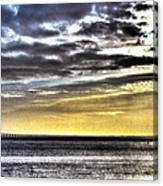 Big Clouds Over Tagus River Canvas Print