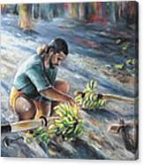 Tahitian Banana Carryer Canvas Print