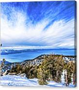 Tahoe From Heavenly Canvas Print