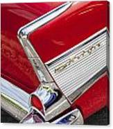 Tail Fins Are In 1957 Chevy Canvas Print