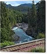 Train Tracks By The Cheakamus River Canvas Print