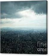 Taipei Under Heavy Clouds Canvas Print