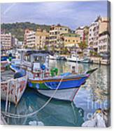Taiwan Boats Canvas Print