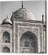 Taj Dressed In White Canvas Print