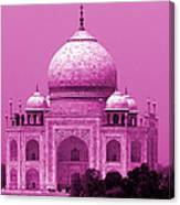 Pink Taj Mahal, Agra, India Canvas Print