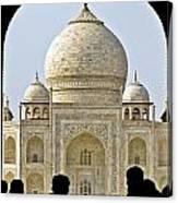 Taj Through The Gates Canvas Print