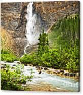 Takakkaw Falls Waterfall In Yoho National Park Canada Canvas Print