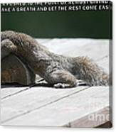 Take A Breather With Caption Canvas Print