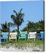 Take A Seat At The Beach Canvas Print