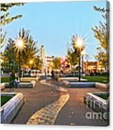 Take A Walk Downtown  Canvas Print