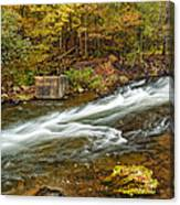 Take Me To The Other Side Beaver's Bend Broken Bow Lake Flowing River Fall Foliage Canvas Print