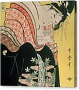 Takigawa From The Tea House Ogi Canvas Print