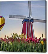 Taking Off At Tulip Field Canvas Print