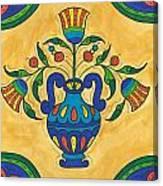 Talavera Flora 2 Canvas Print